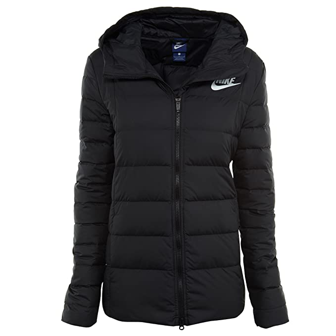 1f987f1ae62e Nike Womens Down Filled Jacket Black White 854862-010 Size X-Small ...
