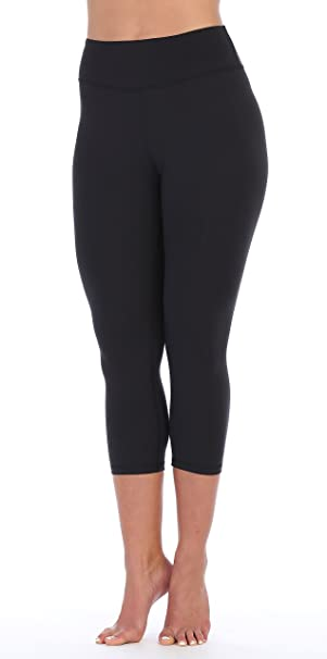 Amazon.com  American Fitness Couture Womens Premium Ultra Soft Compression  High Waist Workout 3 4 Length Leggings  Clothing f218eb1747
