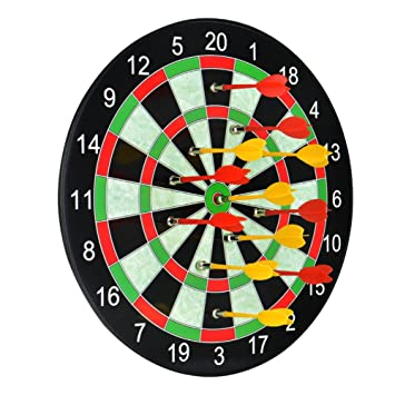 ActionDart Soft Tip Darts And Dart Board Set   Great Games For Kids    Leisure Sport For Office