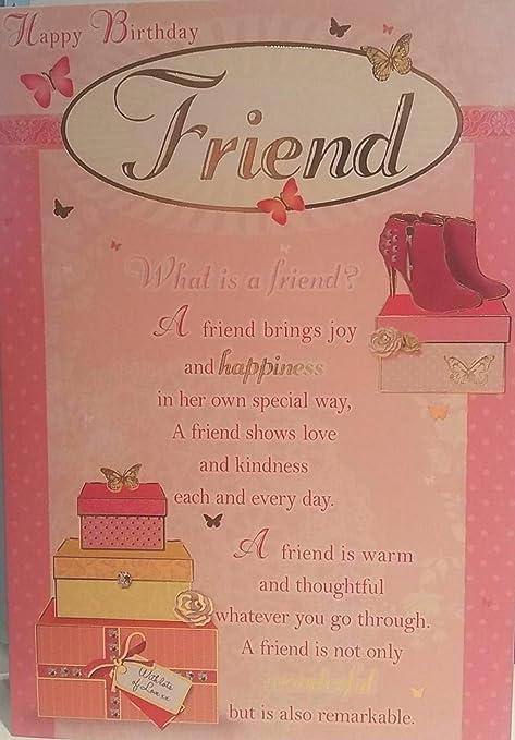 Happy birthday friend what is a friend female greeting card happy birthday friend what is a friend female greeting card m4hsunfo