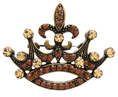 b68a868b0e2 Amazon.com  Brown Princess Crown Tiara Fleur De Lis Lily Flower ...