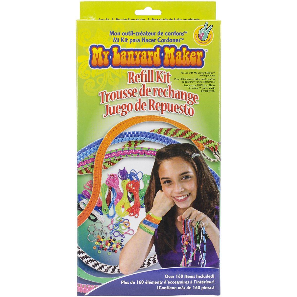 Choose Friendship My Lanyard Maker Refill Kit, 160 items