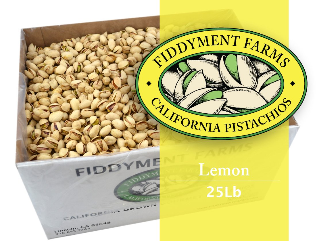 Fiddyment Farms 25 Lbs Lemon Flavored In-shell Pistachios by Fiddyment Farms Gourmet Pistachios