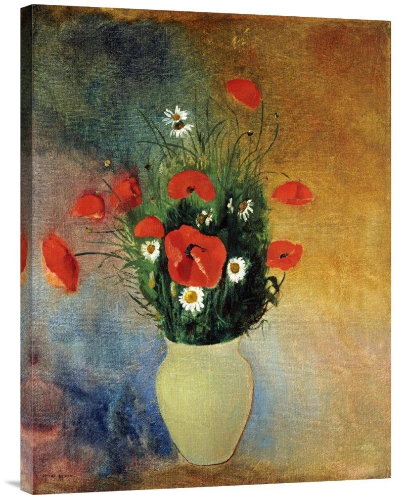 Global Galerie Budget gcs-265389–76,2–360,7 cm Lon roton Mohn und Margeriten Galerie Wrap Giclée-Kunstdruck auf Leinwand Art Wand B01K1PWDM6 | Verschiedene