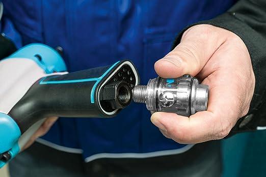 0/V Capacidad: 28/ml, rellenable, directamente en la herramienta Fijar, muy ligero Hazet Mini de engrasador 0/W 9070/N de 1