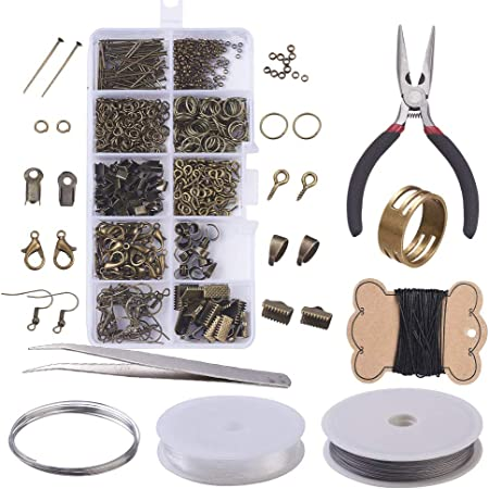 23pcs Jewelry Making Supplies Repair Kit Bead Board Beading Wire Findings Tool