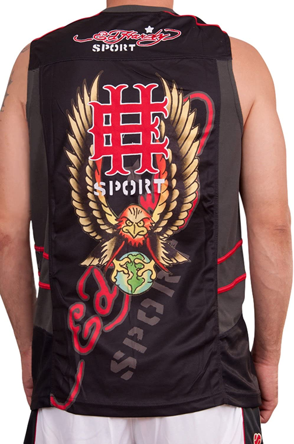 Ed Hardy Mens Sport Athletic Tank Top Muscle Tee