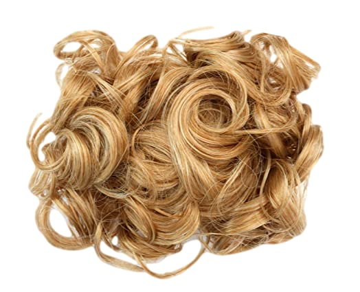 Hair extensions curly or messy drawstring updo full bun add body hair extensions curly or messy drawstring updo full bun add body blonde mix bc27 pmusecretfo Choice Image