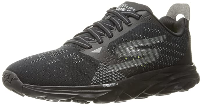 Skechers Performance Go Run Ride 7, Chaussures de Fitness Homme, Noir (Black/White), 44.5 EU