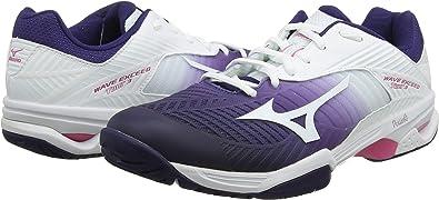Mizuno Femme Vague dépasser Tour 3 All Court Chaussures de tennis Violet Jaune Sports
