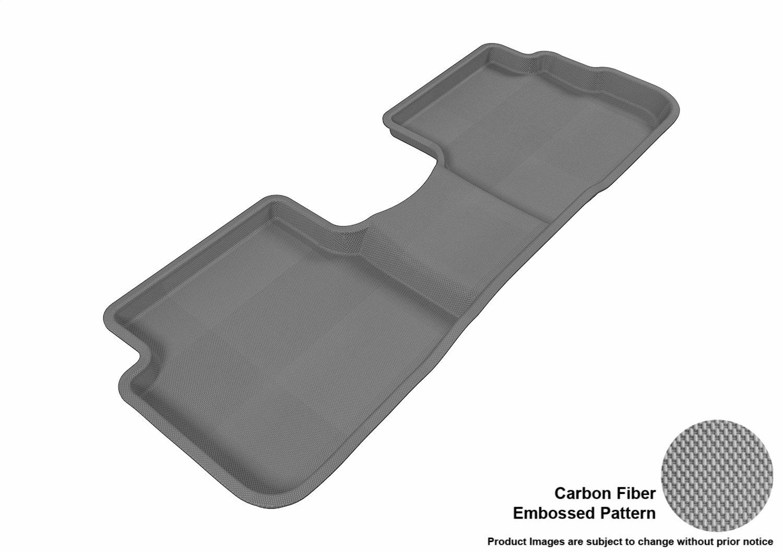 Tan 3D MAXpider Second Row Custom Fit All-Weather Floor Mat for Select Pontiac Vibe Models Kagu Rubber