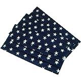 メロウストア マスク スター柄 不織布 ぴったりフィット 三層構造タイプ 星柄 (ネイビー・3枚入り)