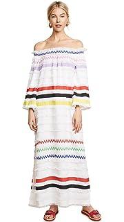 db506aa4ae79d Amazon.com: Cynthia Rowley Women's Hang Ten Striped Maxi Dress: Clothing