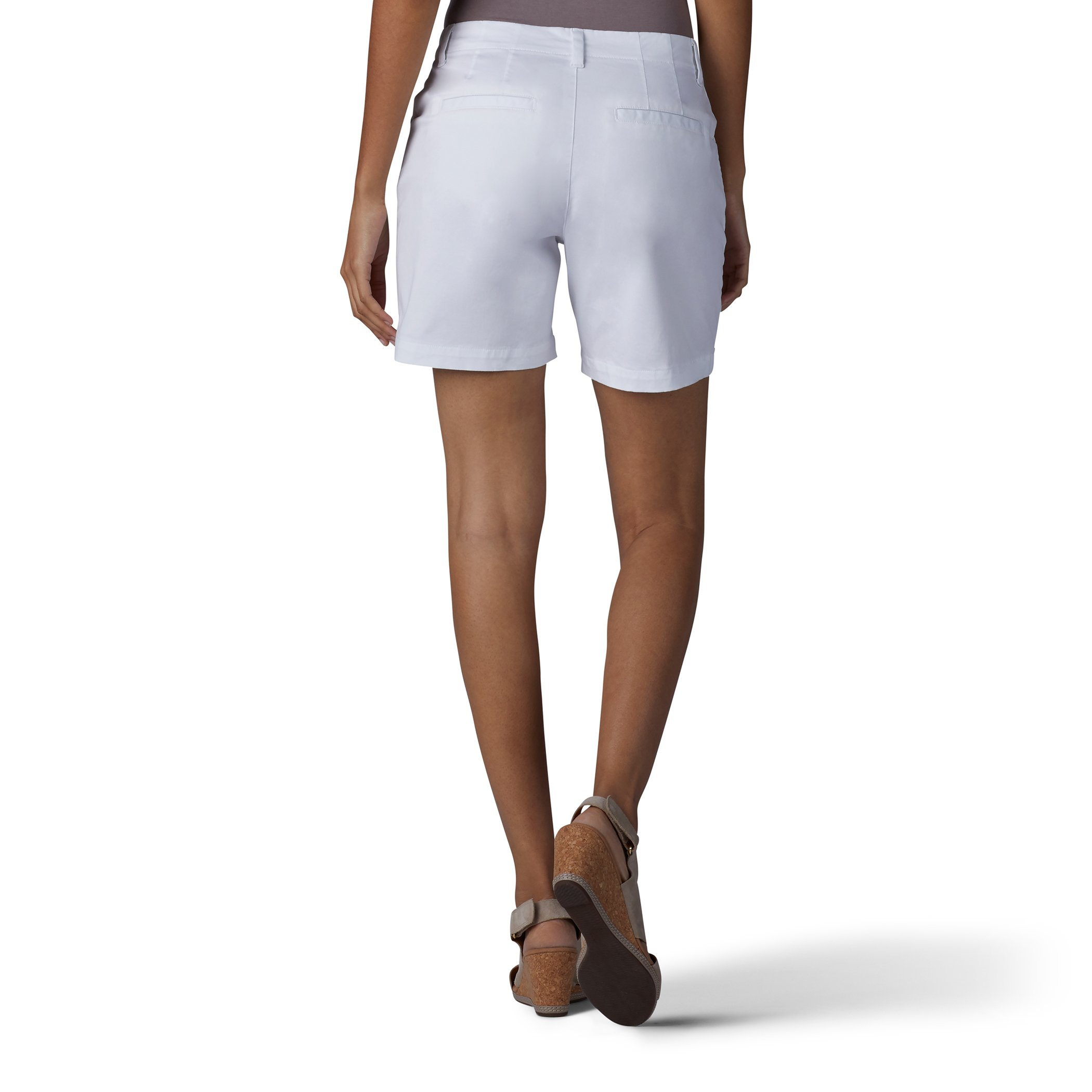 LEE Women's Straight Fit Tailored Chino Short, White, 12 by LEE (Image #2)