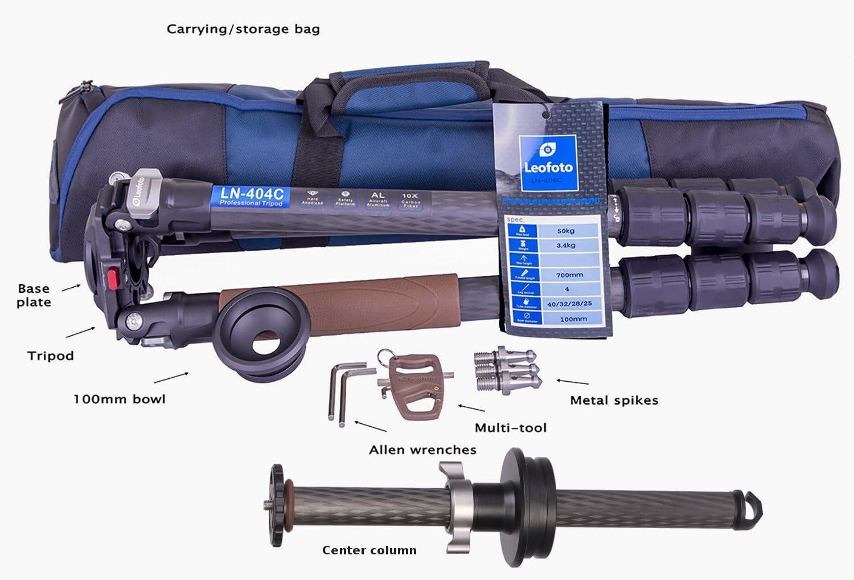Leofoto Kit LN-404C & DC-404C Center Column Series 5 Compatible Bowl Tripod Carbon Fiber CF
