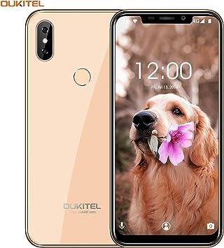 """OUKITEL C13 Pro(2019) 4G Móviles y Smartphones Libres, Android 9.0, 6.18"""" 2GB RAM+16GB ROM,Cámara 8MP+5MP,3000mAh,Dual SIM Teléfono Movil-Dorado: Amazon.es: Electrónica"""