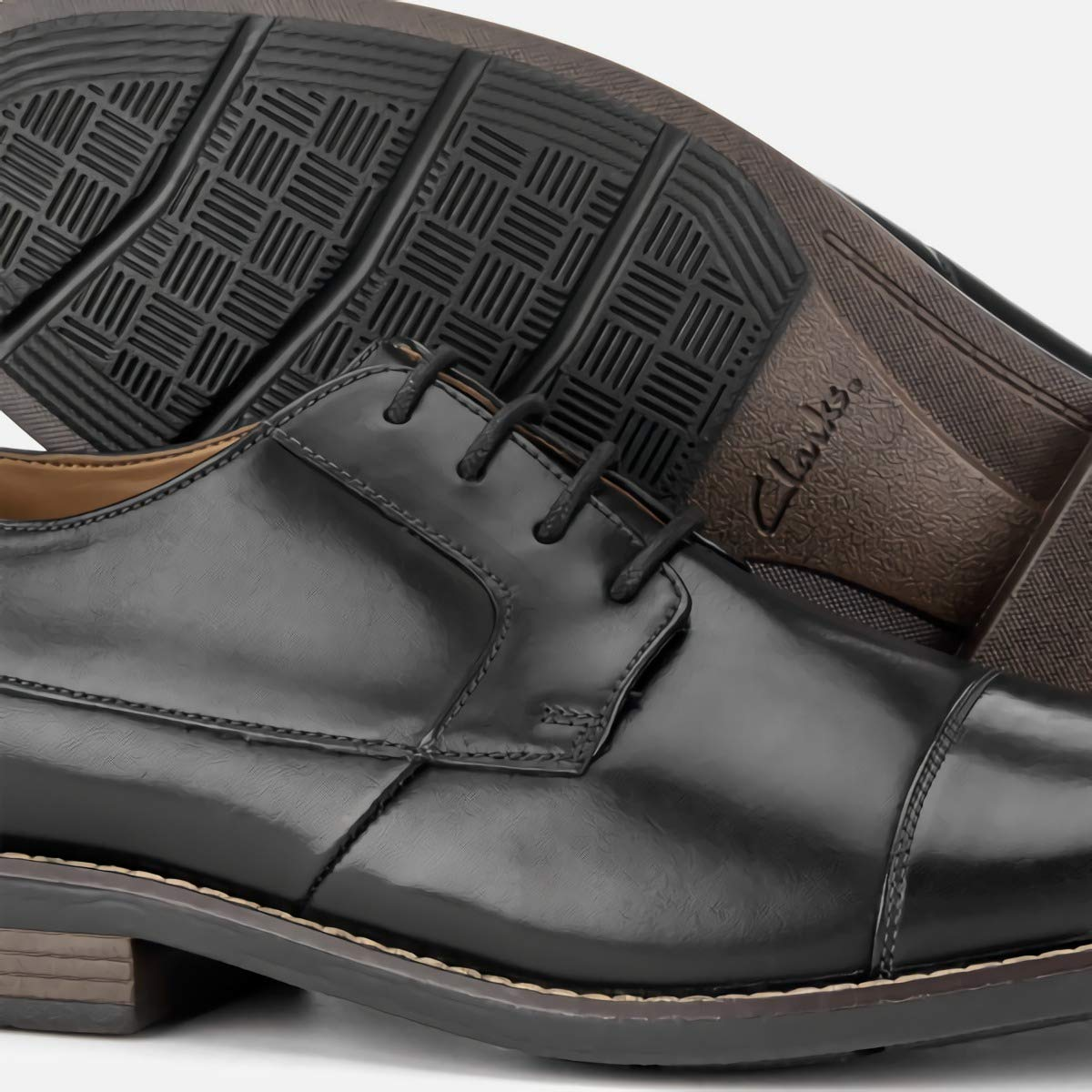 32490e0ce0aa Clarks Becken Cap Mens Wide Fit Formal Lace Up Shoes  Amazon.co.uk  Shoes    Bags