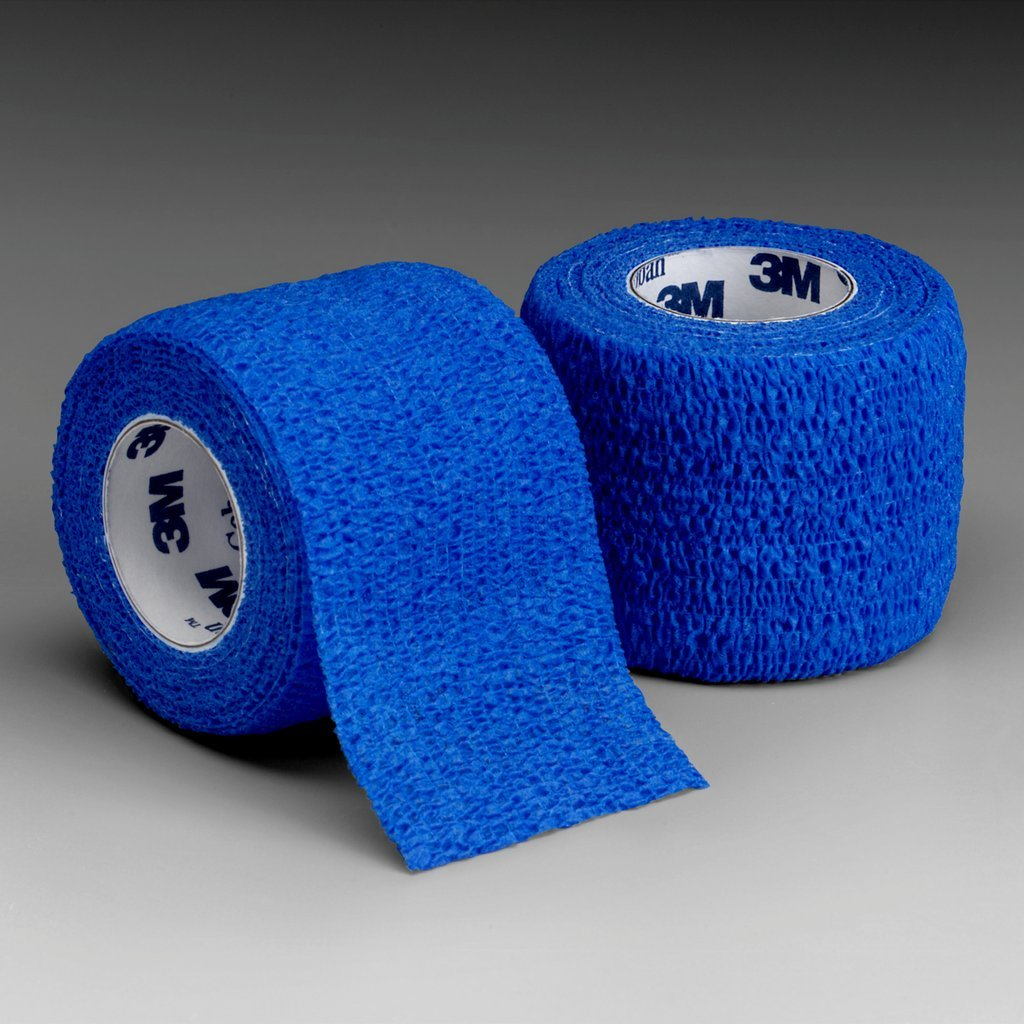 3M Health Care 1581B Self-Adherent Wrap, 1'' x 5 yd. Size, Blue (Pack of 30) by 3M Health Care