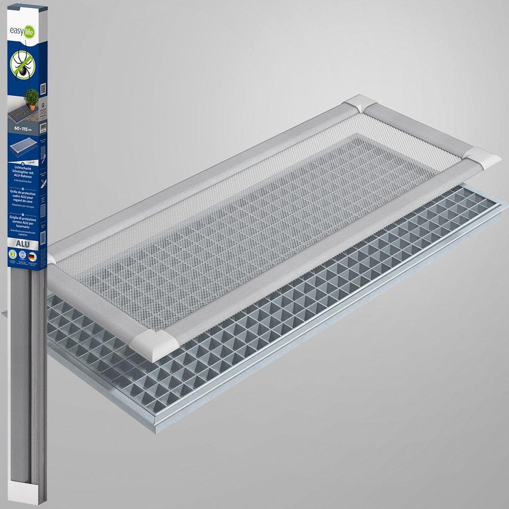 Profi Insektenschutz Lichtschacht Lichtschachtabdeckung 60 x 115 cm transparent - natur easy life