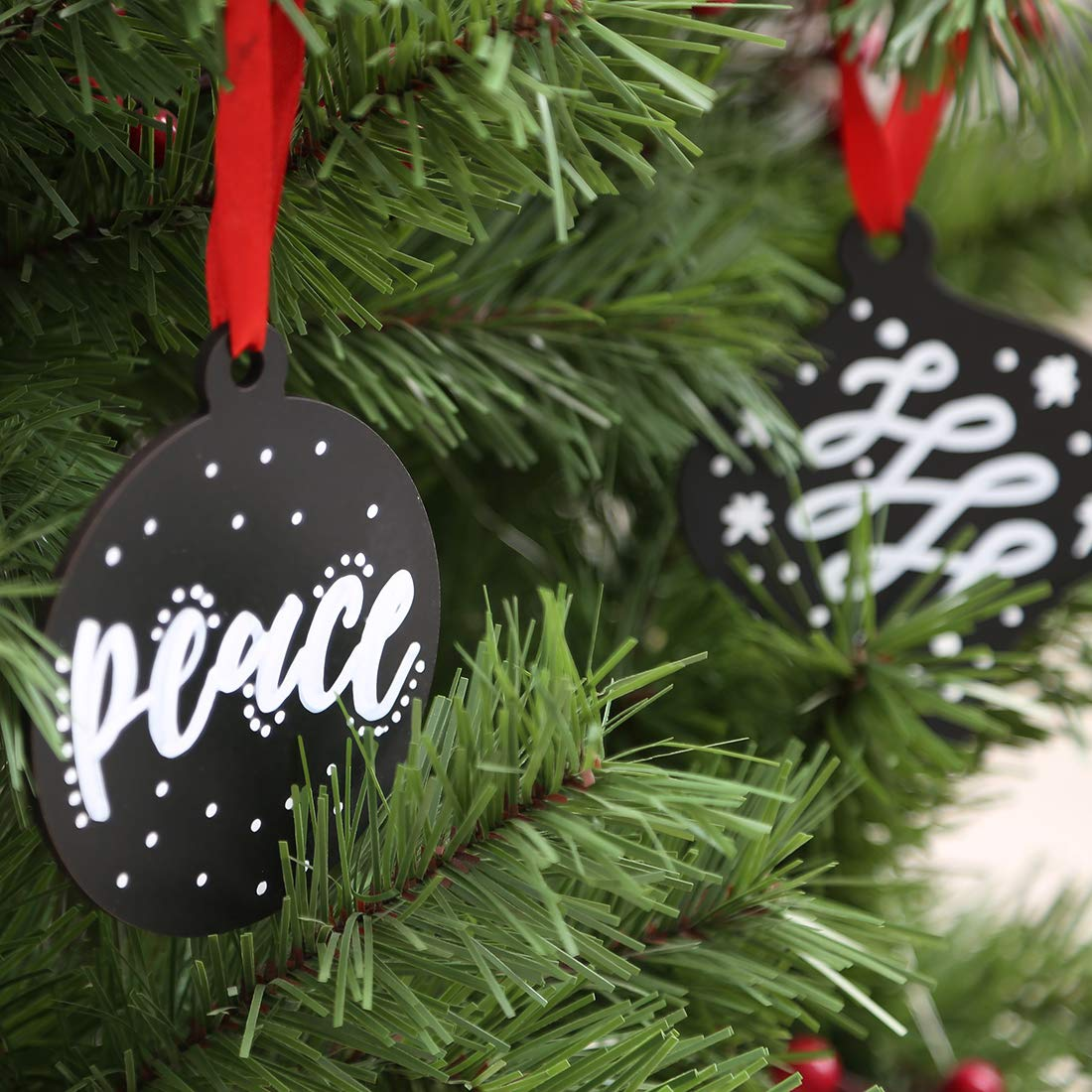 Wedding Party UNIQOOO 12 Count Blank Mini Hanging Chalkboard Christmas Ornament with String Message Board DIY Welcome Sign Xmas Tree Decorations Decorative Blackboard Bag Tags