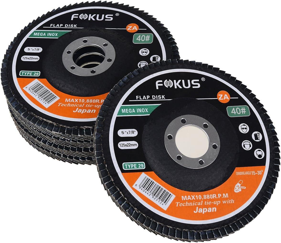 10-7 x7//8 Premium Zirconia Flap Discs Grinding Wheels