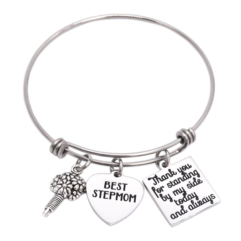 LParkin Best Step Mom Bracelet (Bangle-Bracelet)