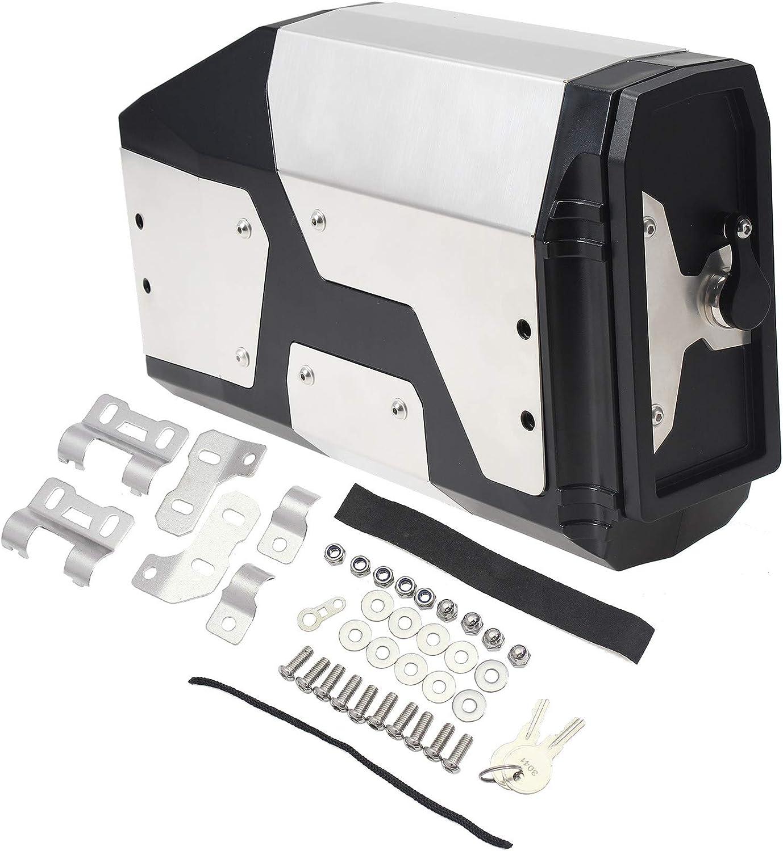 GIDIBII - Caja de herramientas para motocicleta, soporte lateral izquierdo, caja de aluminio, para BMW R1250GS R1200GS LC Adventure F850GS F750GS