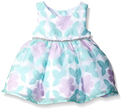 Amazon Com Youngland Baby Girls Butterfly Organza Occasion Dress