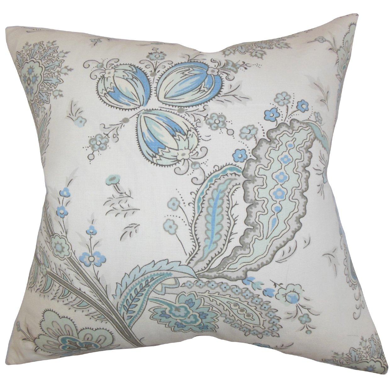 The枕コレクションディリスフローラル枕、ブルー   B00R6LD8R8