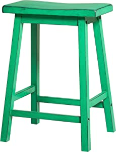 """Acme Gaucho Counter Height Stool (Set-2) - 96651 - Antique Green - 24"""" Seat Height"""