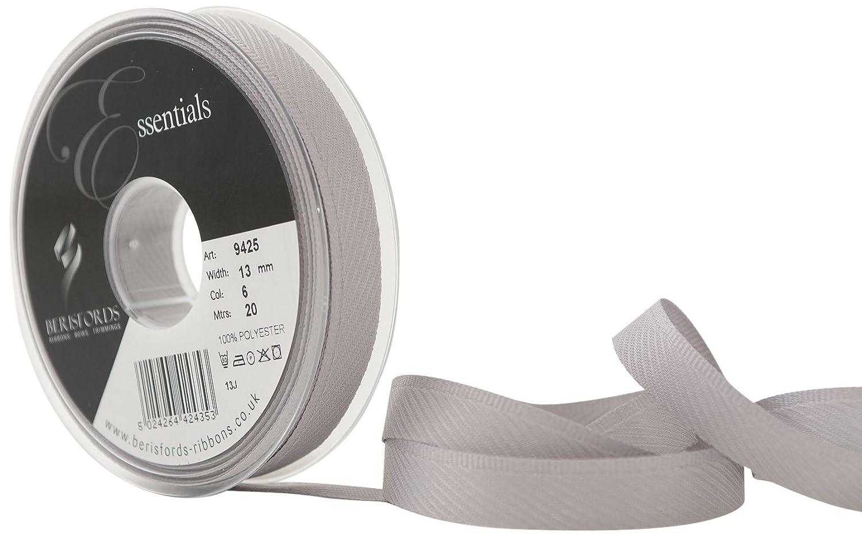 Berisfords 13 mm Kick Tape, Silver Grey 9425-SG-13