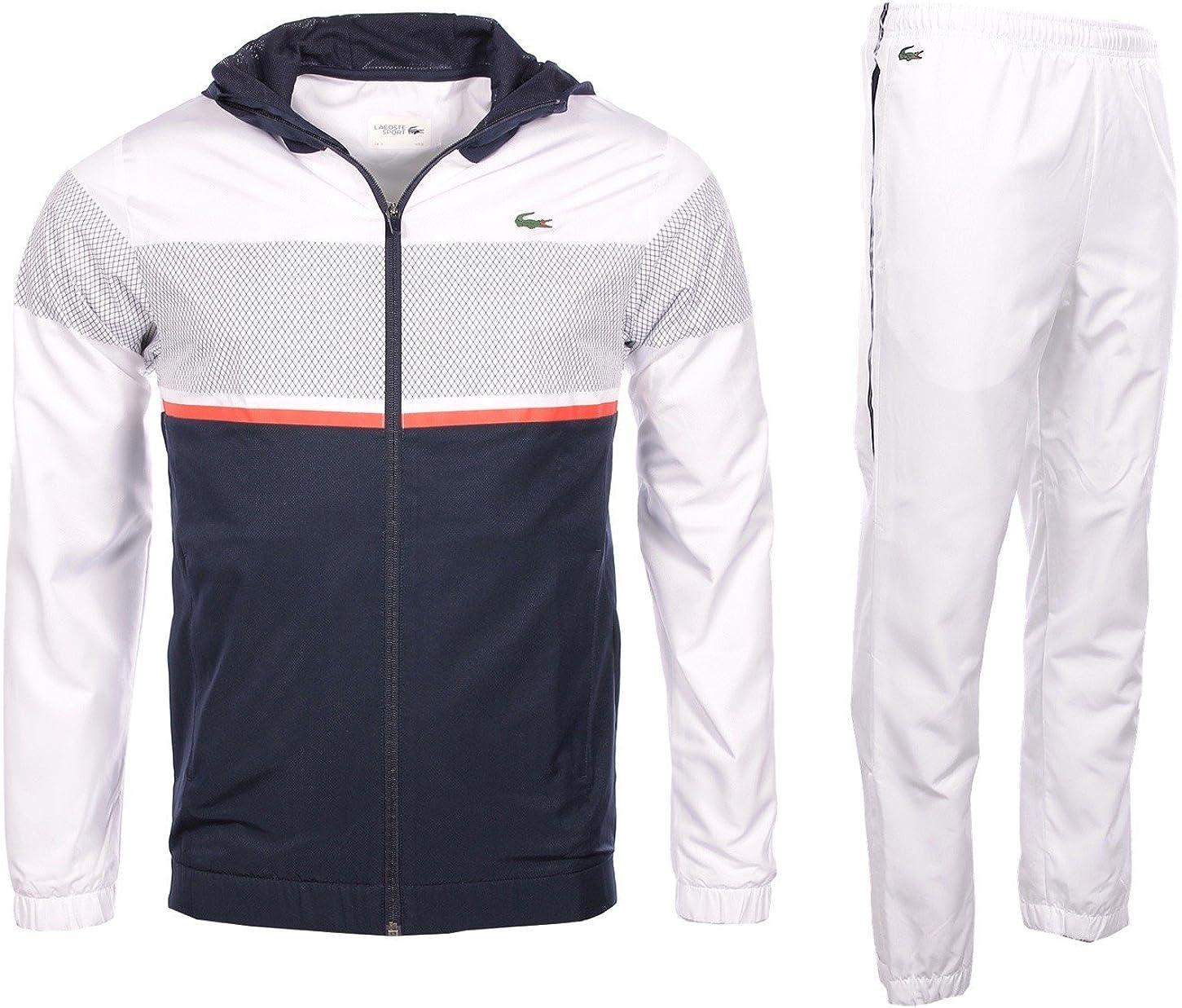 Lacoste Hombre Sportswear Juego de wh2092, weiß - marine - rot ...
