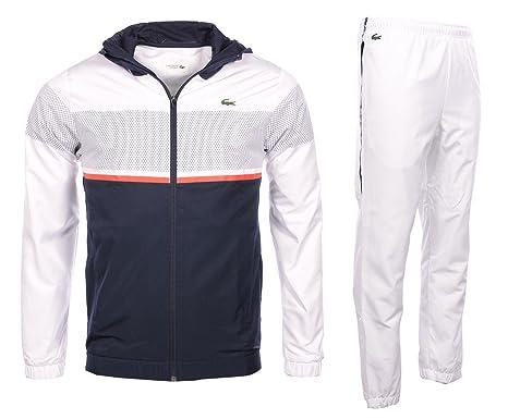 0be61fd8174 Lacoste homme - Ensemble survêtement Blanc Lacoste WH2092 - Taille  vêtements - XS