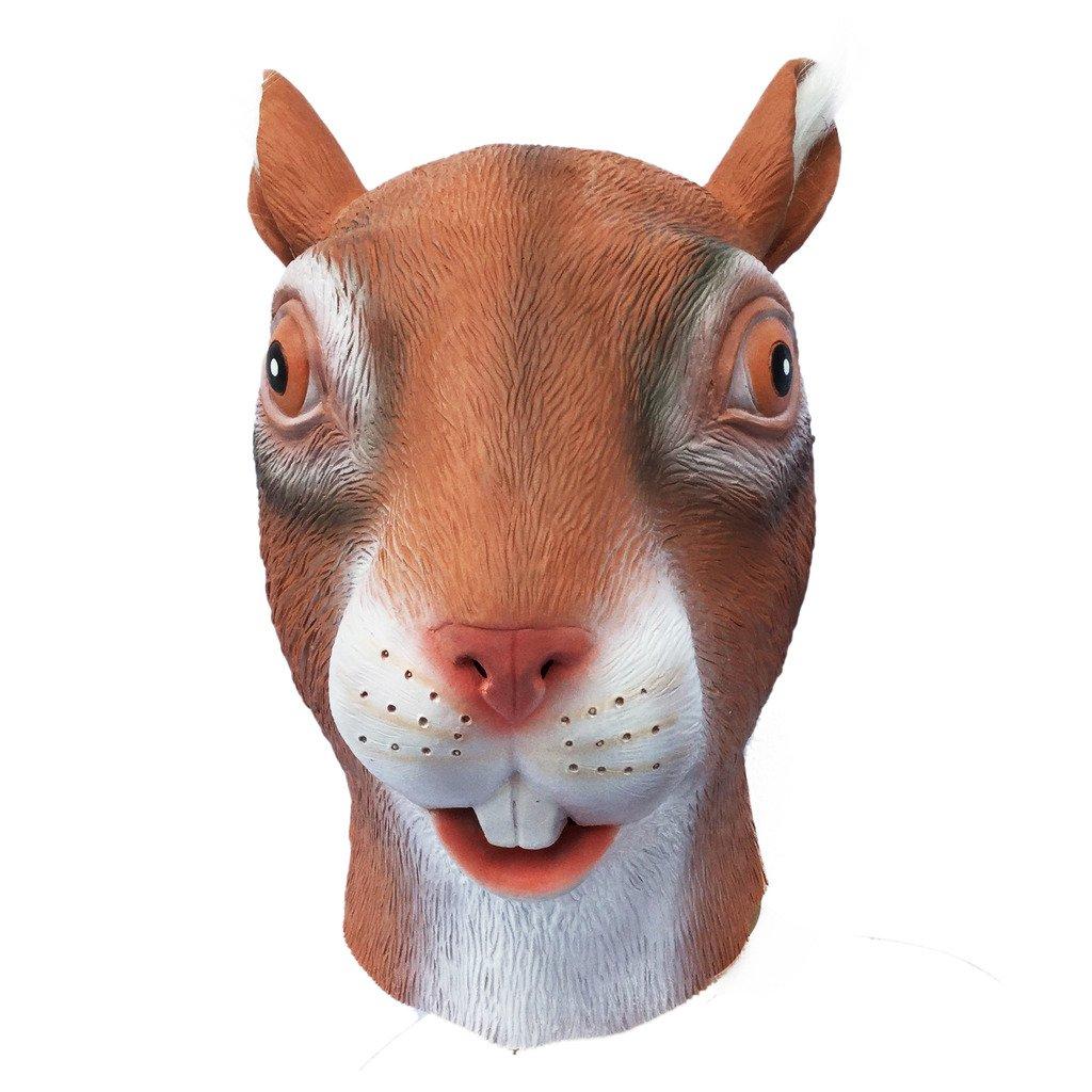 Waylike Deluxe Squirrel Mask Halloween Costume Party Latex Animal Head Mask