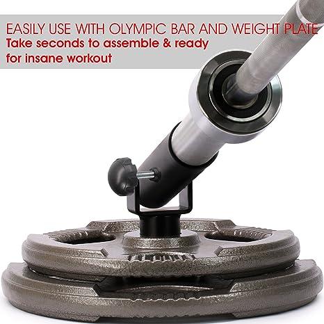 Yes4All - Inserto de Poste de Barra en T para Barras olímpicas de 5 cm - Giratorio 360° y fácil de Instalar: Amazon.es: Deportes y aire libre