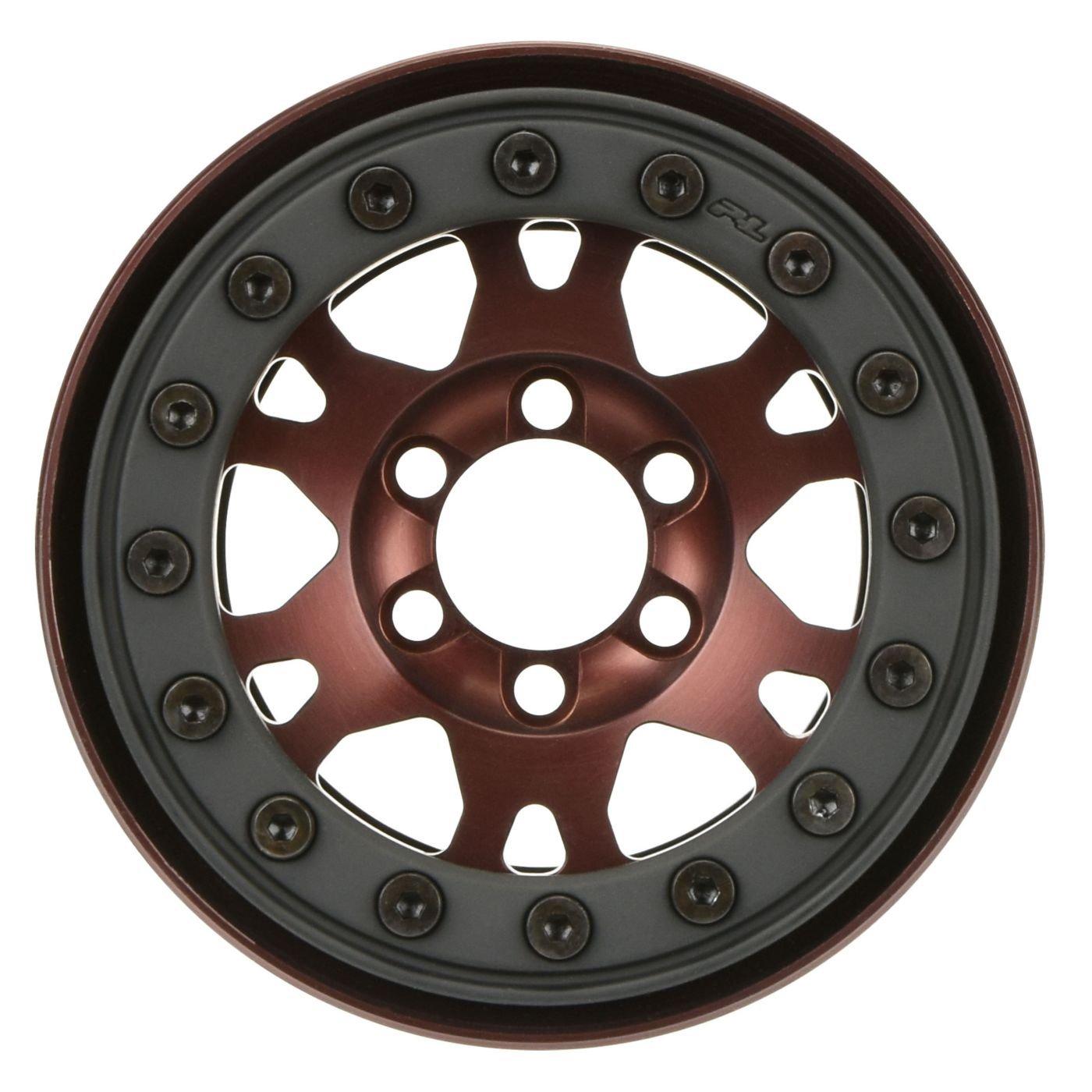 pro-forge 1.9ブロンズ、アルミニウム、ブラック、bead-loc、フロント/リアホイール( 2   B06Y5JCXDQ