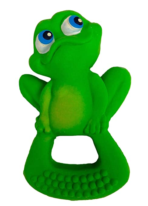 Lanco Toys 870 - Mordedor ranita, 100% látex natural, orgánico y ecológico