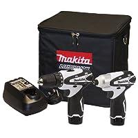Makita DK1493WX - Set di strumenti di potere (10,8 volt, pacchetto di 2)