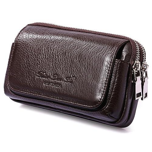 2cedba163f35 Amazon.com: Xieben Mens Leather Belt Loops Waist Bag Wallet Phone ...