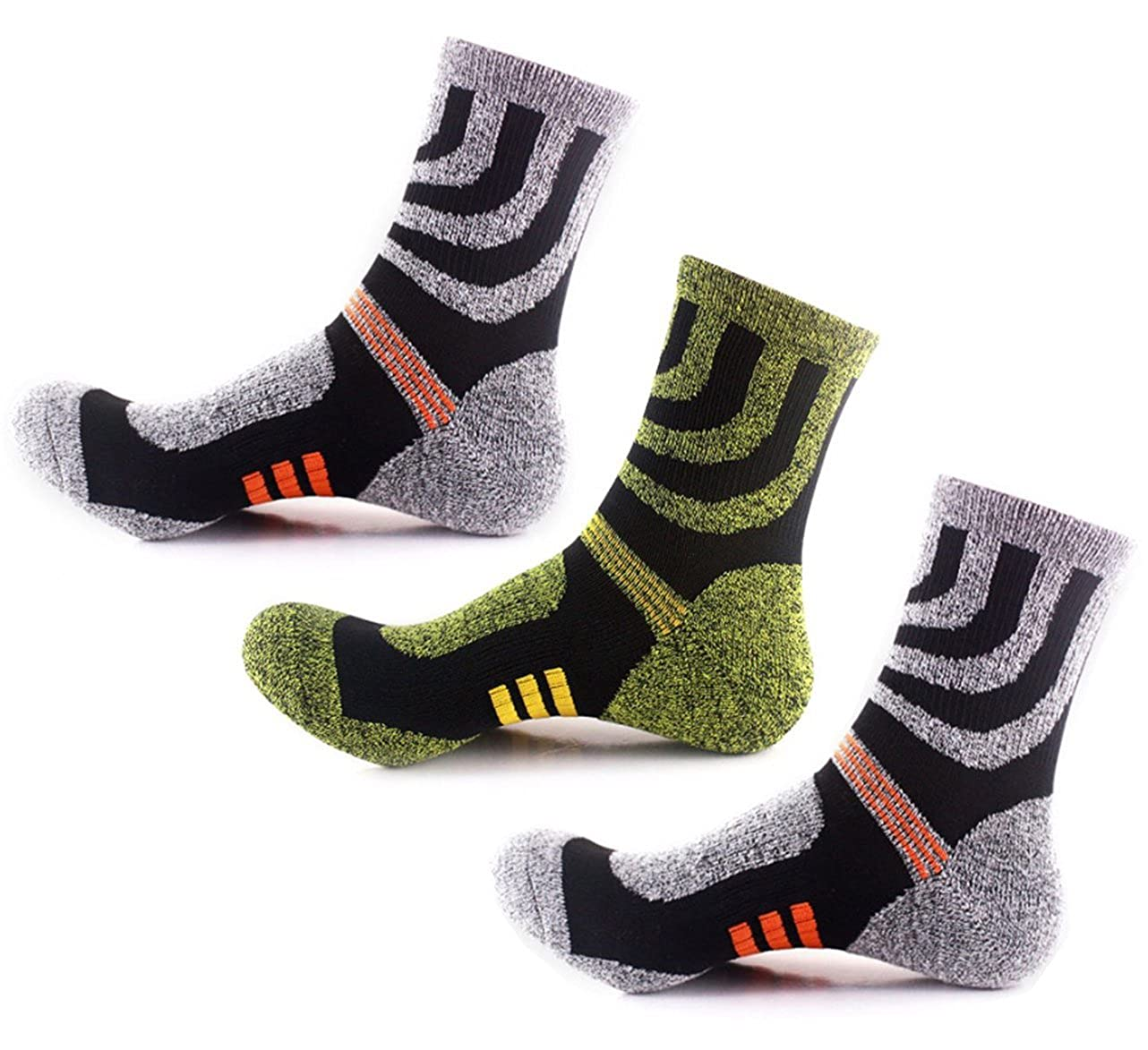 6e269d80baa Amazon.com   3 Pairs Hiking Socks for Man Running Walking Camping Golf Gym  for Outdoor Sports Running Walking Climbing   Sports   Outdoors