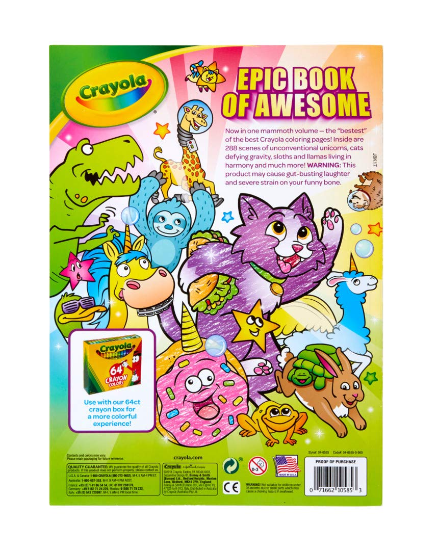 Crayola Epic Book of Awesome, Coloring Book Set, Stocking Stuffers for Girls & Boys, 288 Pages 6