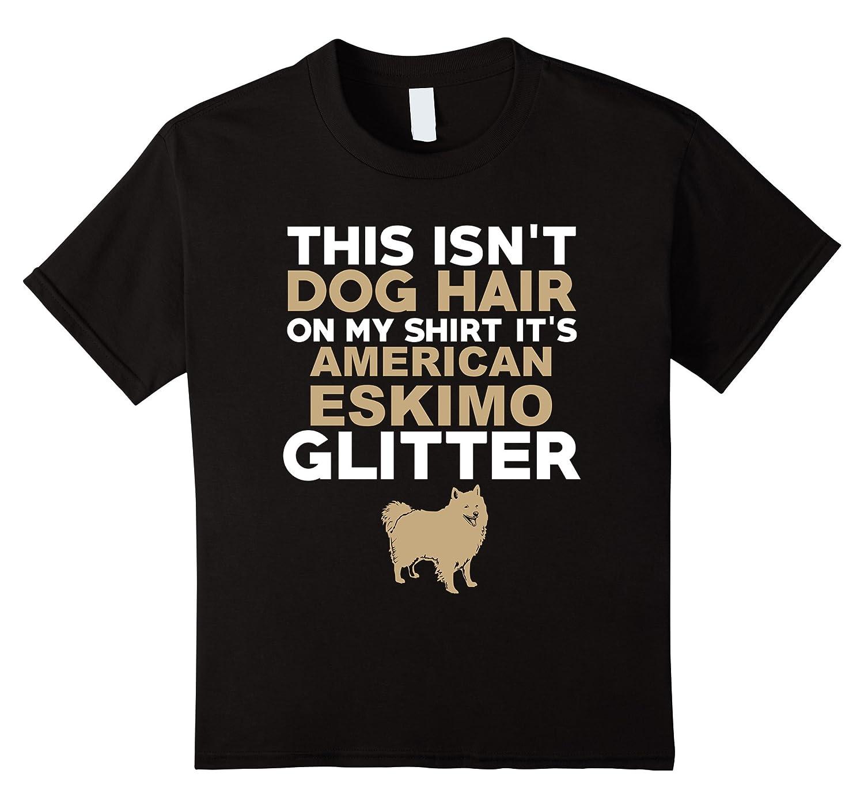 Womens American Eskimo Glitter T Shirt-Awarplus