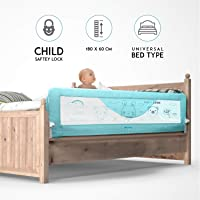Kurtzy Foldable Bed Rail Baby Falling Safety Guard Barrier