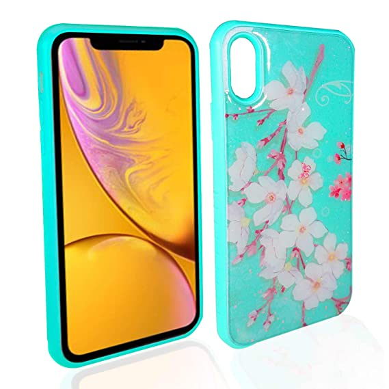 hot sale online 0a844 7c9db Amazon.com: Beautiful Tough Art iPhone XR case for Girls   Slim and ...