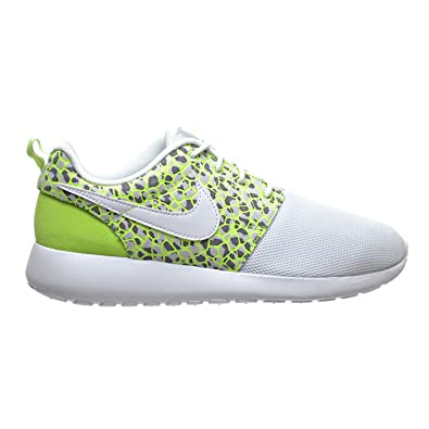 first rate a75c9 1fece NIKE Roshe One PRM Women s Shoes White White Ghost Green 833928-100 (