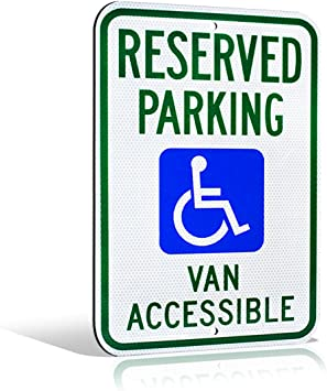Amazon.com: Reflectante Reservado Handicap estacionar Van ...
