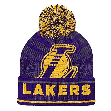 30bb41c73 Amazon.com : Outerstuff Youth Los Angeles LA Lakers Knit Hat ...