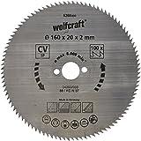 Wolfcraft 6268000 - lama per sega circolare manuale 100 denti Ø 160 mm, serie blu