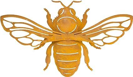 B2s Back2season Biene Maja Metall Rost L33cm Edel Edelrost Rostfigur Figur Tierfigur Rostige Garten Winterdeko Fruhlingsdeko Gartendeko Rostdeko Fruhling Braun Stabil Zeitlos Wetterfest Amazon De Garten