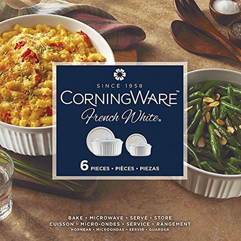 Corningware French White 6 piece Round Set